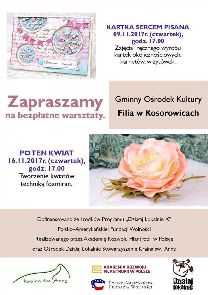 Plakat Działaj Lokalnie Filia GOK Kosorowice.jpeg