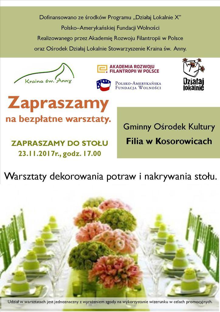 Zapraszamy do stołu - Kosorowice, plakat.jpeg
