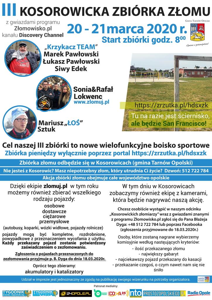 Wersja Poprawiona Plakat III Kosorowicka zbiórka złomu .jpeg