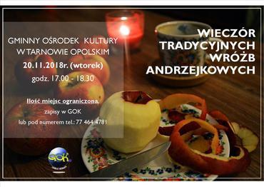 Andrzejki w GOK Plakat.jpeg